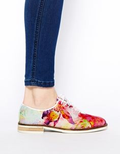 Zapatos planos de lona con diseño floral Charlotte 5 de Swear