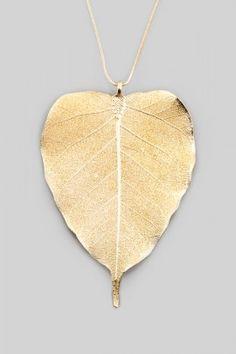 ANA Jewellery Bodhi Ağaç Yaprağı Kolye Lidyana
