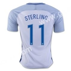 2016 European Cup England STERLING Home White Thailand Soocer Jersey