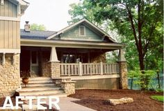 Giving a tri-level home an arts  craft style upgrade, and a porch!