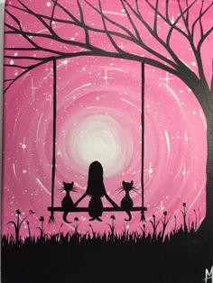 I wish I may 9 x 12 acrylic on canvas panel por MichaelHProsper