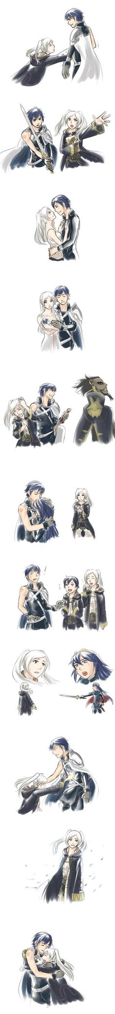 OMG I FINISHED FIRE EMBLEM AWAKENING A WHILE AGO AND THAT GAMES IS THE BOMB (Am I the only one who fangirled when Chrom proposed to Robin? They had an animation just for that X3)