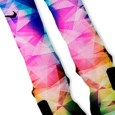 Rainbow Prism Lebron 11 Fast Shipping!! Nike Elite Socks Customized Lebron 11 Rainbow on Etsy, $26.00