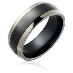 black titanium wedding band