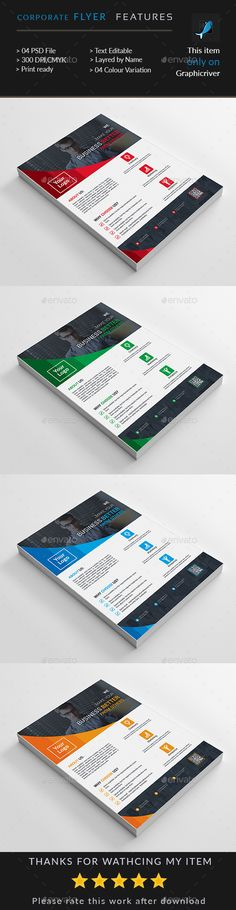 Corporate Business Flyer by Death_pixels Corporate Flyer, Corporate Business, Flyer Template, Business Card Design, Card Holder, Graphic Design, Templates, Creative, Death
