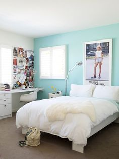 beautiful south: Teenage Bedroom Decor my dream bedroom Teenage Girl Bedroom Designs, Teenage Girl Bedrooms, Teenage Room, Girls Bedroom, Bedroom Decor, Bedroom Ideas, Bedroom Colors, Teen Rooms, Bedroom Inspo