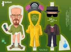 Leading Man Paper Figurines - The Limited Edition Breaking Bad and Mad Men Doll Sets by Trimdoll (GALLERY)