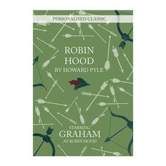 A fantastic 'novel' gift for any bookworm you may know, this personalised classic features the character Robin Hood which can be personalised with up to 12 char Personalised Childrens Books, Howard Pyle, Book Stationery, Book Worms, Robin, Novels, Children's Books, Cards, Character