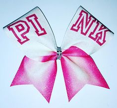 $15. PINK VARSITY LETTERS. Victoria's Secret cheerleading hair bow. Cheer bow. Cheerleading gift. #cheerleading #ad