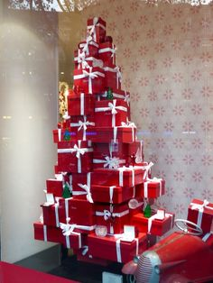 christmas tree made from gift boxes - Google Search