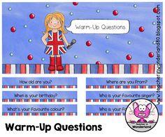 Für meinen Englischunterricht habe ich 40 Warm-Up Questions auf Holzstäbchen befestigt. Sie werden in der Dose auf meinem Pult steh...