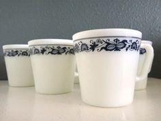 pyrex mugs. wooooooopwoop, I've got four of these beauts!