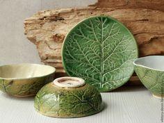 Купить Керамические пиалы - зеленый, пиала ручной работы, пиала из глины, посуда ручной работы