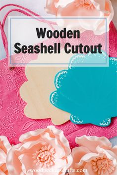 Make it pretty- Beautifully formed and carefully cut, this seashell cutout is a wooden craft shape that's totally at home bringing some sparkle to your home decor, wall hangings, door hangers, mantle display, and tabletop display (yay! A party!) Wooden Craft Shapes, Wooden Cutouts, Wooden Crafts, Diy Crafts, Wood Burning Tool, Woodpeckers, Baltic Birch Plywood, Table Top Display, Seashell Crafts