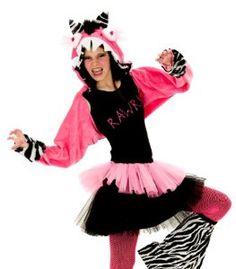 #Halloween : Princess Paradise Kids Hot Pink Zebra Rawra Monster Outfit Girls Halloween Costume S/M #HalloweenCostume #2013
