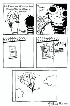 29 Ideas Funny Comics Strips For Adults Sarah Anderson Sarah Anderson Comics, Sara Anderson, Funny Cartoons, Funny Comics, Funny Memes, Funniest Memes, Saras Scribbles, Funny Cute, The Funny