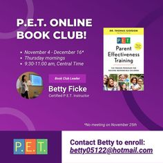 #parenting #online #bookclub #zoom #gordonmodel #gordontraining Kids Book Club, Book Club Books, Training Programs, Best Quotes, No Response, Workshop, Parenting, Pets, Children