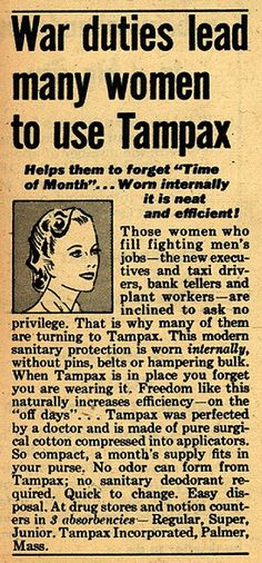 War duties lead many women to choose Tampax