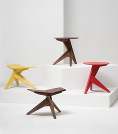 Medici Stool & Side Table (2013) | Mattiazzi