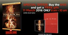 War Room exclusive Deal! Christian Movies, Free Gifts, Prayers, War, Room, Bedroom, Promotional Giveaways, Prayer, Rooms