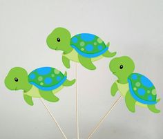 19 Ideas Baby Shower Centerpieces For Boys Sea Turtle Birthday Parties, Baby Boy 1st Birthday, Turtle Party, Mermaid Birthday, Turtle Cupcakes, Baby Shower Pictures, Green Turtle, Baby Turtles, Under The Sea Party