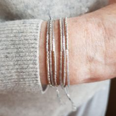 The sterling silver bracelets have actually been incredibly popular amongst ladies. These bracelets are offered in various shapes, sizes and styles. Dainty Bracelets, Seed Bead Bracelets, Cord Bracelets, Ankle Bracelets, Bracelet Sizes, Sterling Silver Bracelets, Silver Ring, Silver Earrings, Bangles