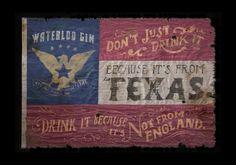 Waterloo Gin by Jon Contino, via Behance