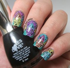 The Clockwise Nail Polish: Yes Love 346 & Reversed Leadlight Nail Art