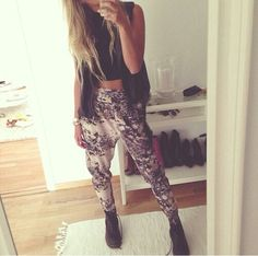 Harem pants. Don't know if I could rock these, but they're super cute!!