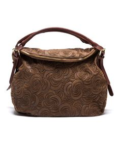 5774f86830df Love this Marrone Embossed Leather Hobo on  zulily!  zulilyfinds Slouch  Bags