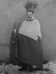 Hobby-horse mummer from Weisbach from Axel Hoedt's book 'Dusk'