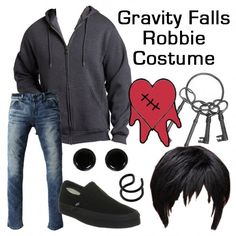 Gravity Falls Robbie Costume - Put together the perfect Robbie outfit with these suggestions and more! Gravity Falls Costumes, Gravity Falls Cosplay, Cosplay Events, Estilo Disney, Cartoon Outfits, Character Inspired Outfits, Disney Nerd, Fandom Outfits, Casual Cosplay