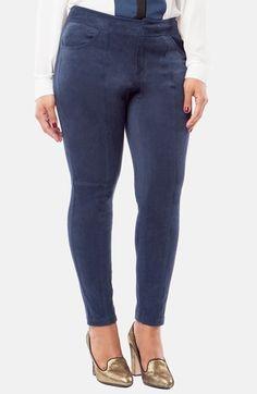 Plus Size Women's Mynt 1792 Faux Suede Skinny Pants