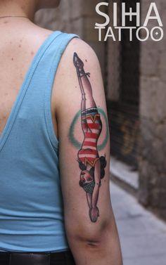 tatuaje, tattoo, jump, swim, old school, tradi, american traditional, barcelona
