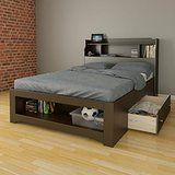 Dixon 1-Drawer Storage Bed with Bookcase Headboard Full deals week