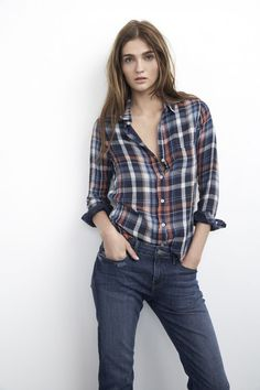 Classic Jeans and checkered shirt, the style that never fades away with time. Incorporate the funky street style in everyday fashion. Get Groovy Or Go Home!