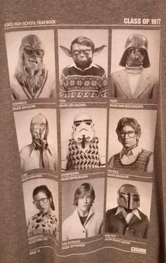 Star Wars High Class Of '77 : i.e. the yearbook photos you wish were yours.