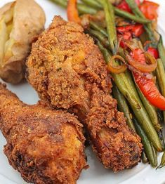 Oven Fried Buttermilk Chicken is tender and delicious. Better than take out chicken, it will quickly become a favorite at your house!