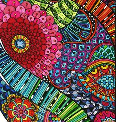 Many stylized motifs that started from nature - floral, leaf, feather, scales... and stripes for good measure.