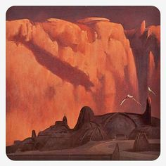 John Schoenherr painting of the Arrakeen Palace from Dune. Schoenherr did all of…