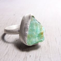turquoise rock ring. I have a certain Lily-girl who loves rocks and wants a rock ring for her wedding ring.