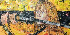Paola Montanaro - Magazine Collage Art  - Kill Bill 120x60cm