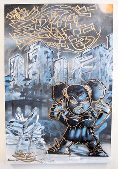 Canvas- Acryl Spray Paint - 80 cm x 120 cmDas Bild wird nicht per Post verschickt und muss in Zürich abgeholt werden.EKREKR gehört zu den bedeutendsten Rappern der Schweiz. Seine markante Stimme, sein auf den Punkt genauer Flow und seine intelligenten Texte bescheren ihm Fans weit über den Underground hinaus. Bevor er sich einen Namen als Rapper machte, lebte EKR u.a. in New York und London, wo er Beats pr... Rapper, Poster, New York, London, Painting, Full Stop, Names, Switzerland, Pictures
