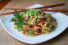 Summer Vegetable Asian Noodle Salad by Amee's Savory Dish (Click for the recipe!)