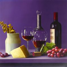 ROBERTO SALAS ARTIST   Originals by Artist Roberto Salas Wine Painting, Still Life Photos, The Originals, Artist, Artwork, Collection, Food, Pintura, Work Of Art