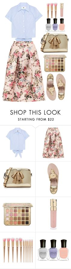 """MM6"" by thestyleartisan ❤ liked on Polyvore featuring MM6 Maison Margiela, Ted Baker, Rebecca Minkoff, Jack Rogers, Smith & Cult, Deborah Lippmann and islandgetaway"