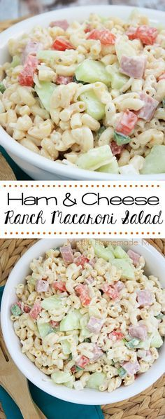 Let's be honest, macaroni salad is always a good idea. Macaroni salad with HAM? Genius. Check out this mouth-watering Ham and Cheese Ranch Macaroni Salad from Mostly Homemade using Smithfield. You'll never make want to make macaroni salad without ham again! SmithfieldFlavor AD