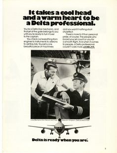 1975 Delta Airlines Magazine Ad print Photo | Old Magazine Ads