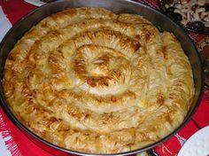 """ Zelnik"" - Potato and leek phyllo dough pastry"