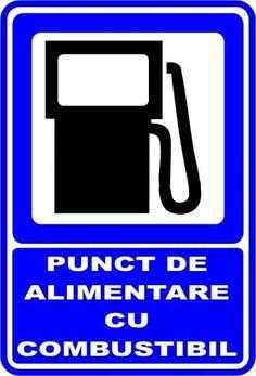 "Indicator de securitate de informare generala ""Punct de alimentare cu combustibil"" Logos, Logo"
